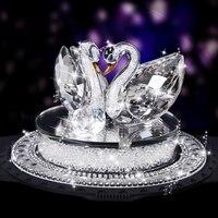 Crystal Swan Car Ornament Decoration Interior Car Air Perfume Vehicle Dashboard Ornament Birthday Gift Present For Female Girls