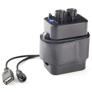 Image 2 - 6 Section 18650 Waterproof Battery Case 18650 Battery Pack 5V USB / 8.4V DC Dual Interface 18650 Waterproof Battery Box