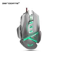 ZERODATE 11 botón programable ratón óptico con cable USB 3200DPI color retroiluminado macro mecánico definición juego ratón PC