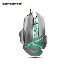 ZERODATE 11 programlanabilir düğme USB kablolu optik fare 3200 DPI renkli arka mekanik makro tanımı oyun fare oyun PC