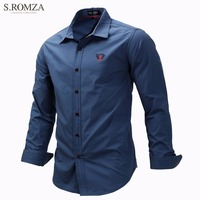 S ROMZA Men S Slim Fit Casual Shirts Career Long Sleeve Shirts Plus Size EUR M