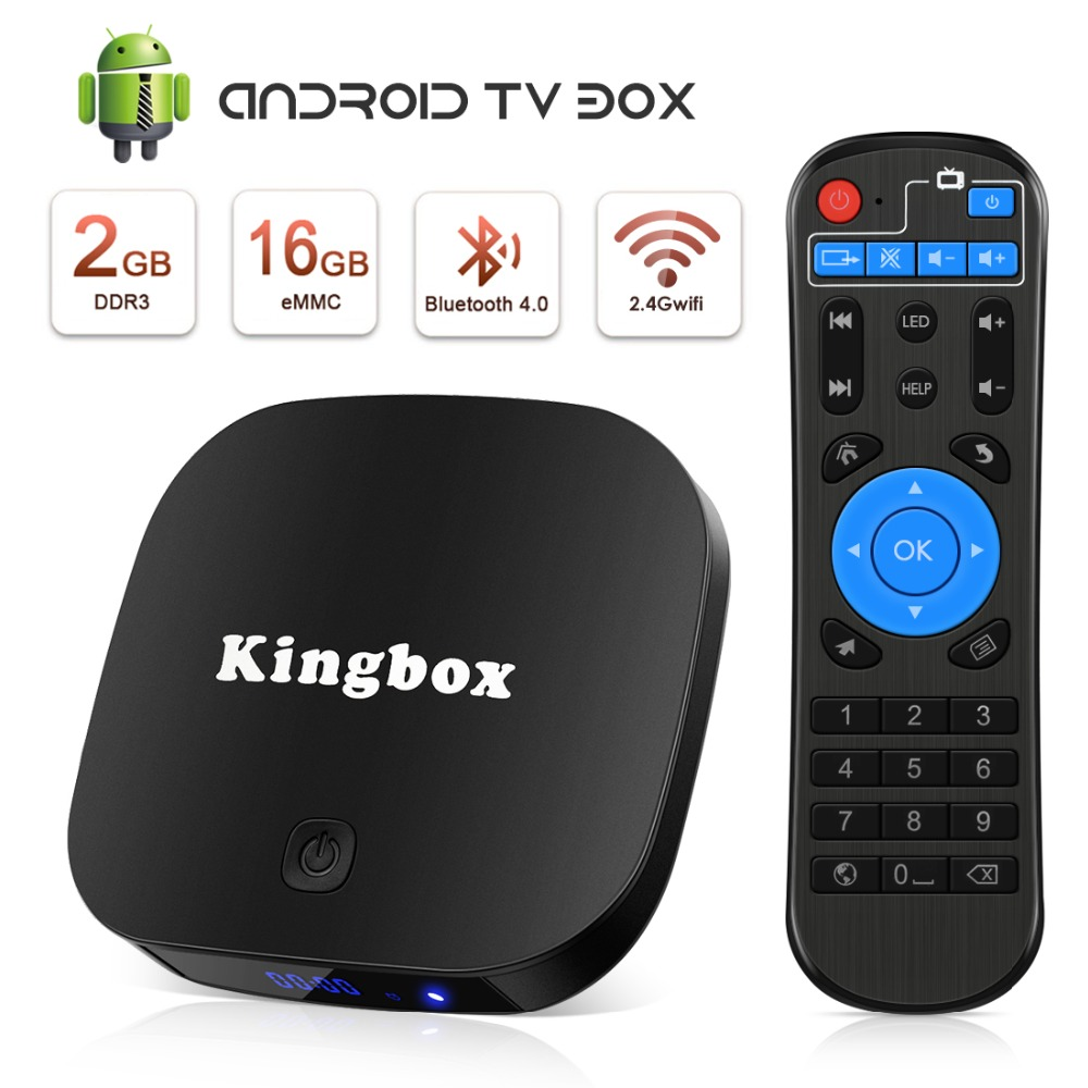 Leelbox TV BOX Android 8.1 Smart WIFI Bluetooth 4K HDR H.265 décodeur TV Youtube Netflix DTS IPTV lecteur multimédia