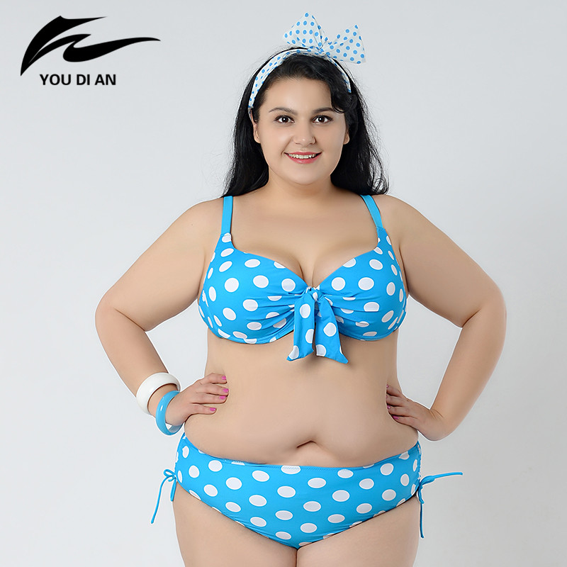 ФОТО Plus Size Swimwear Ladies Swimsuit Summer Woman 2017 New Hot Sale Bikini Set Woman Sexy Large Size Swimsuit Bathing Suit W5138
