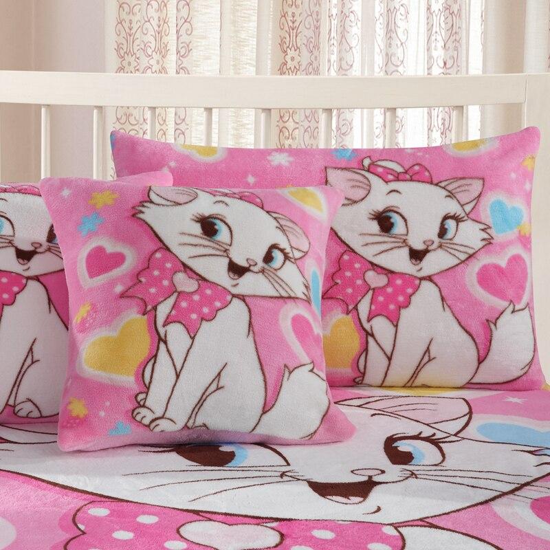 Disney Flannel Pillowcases 1piece Cartoon Marie  Pillow Cover Decorative PillowsCase 48x74cm|Pillow Case| |  - title=
