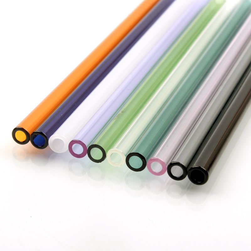 Unique Reusable Wedding Birthday Party Clear Glass Drinking Straw ThickStraws ES