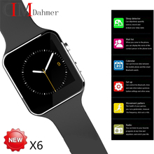 """Neue X6 Smartphone Uhr 1,54 """"Curved Touchscreen Smartwatch Telefon Facebook Sync MP3 Schrittzähler Smart Uhr Anti verloren Uhren"""