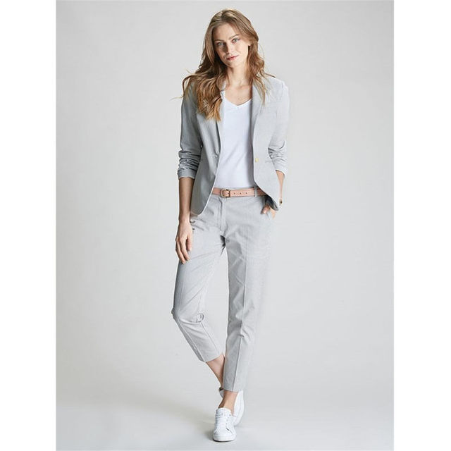 f4c13039636 Ladies Pants Suits For Work Summer Womens Trouser Suits Formal Business Wear  Suit Girls Graduation Suits B203