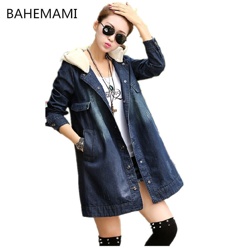 BAHEMAMI Autumn Winter Maternity Coat Loose Big Yards Detachable Hooded Denim Windbreaker Pregnancy Clothes For Pregnant Women
