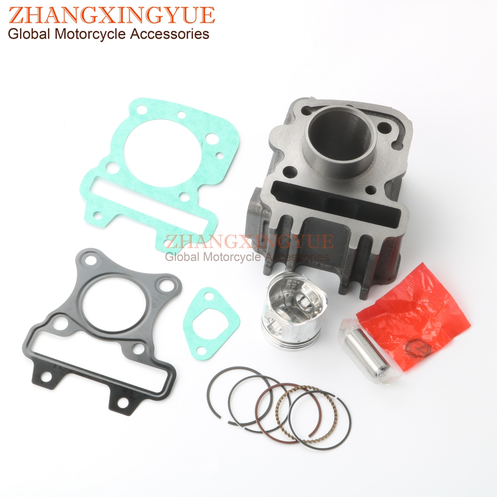 Cylinder Head For Cylinder Piaggio Liquid Cooled: 50cc Cylinder Kit & Piston Kit & Cylinder Gasket For
