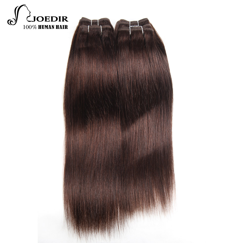 Joedir перуанский Yaki прямо Человеческие волосы 4 пачки 190 г 1 упак. 2 #4 # 99j # бордовый связки (bundle) не реми Пряди человеческих волос для наращивания ...