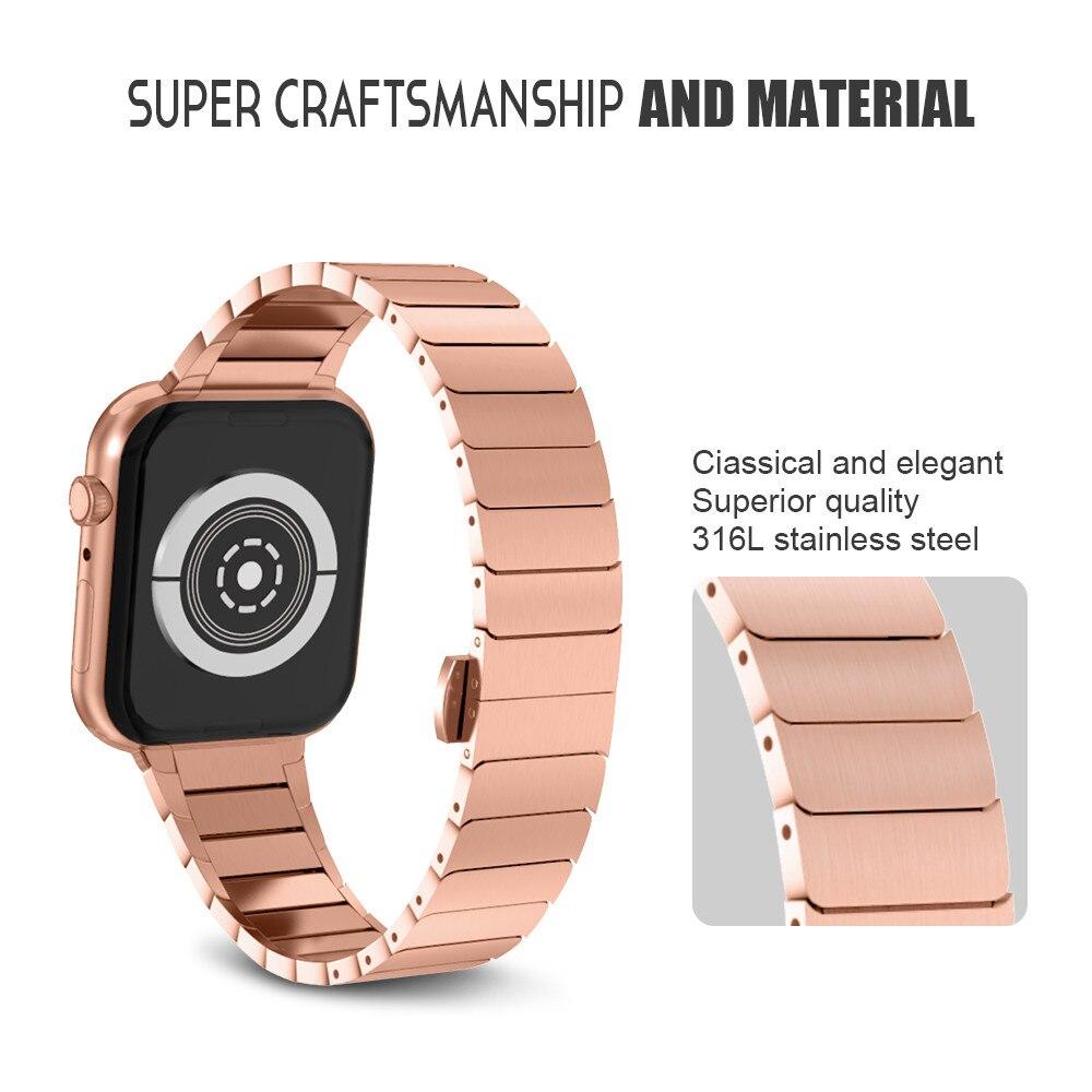 Correa de acero inoxidable para Apple Watch Band 42 mm 38 mm 4 3 2 1 - Accesorios para relojes - foto 2
