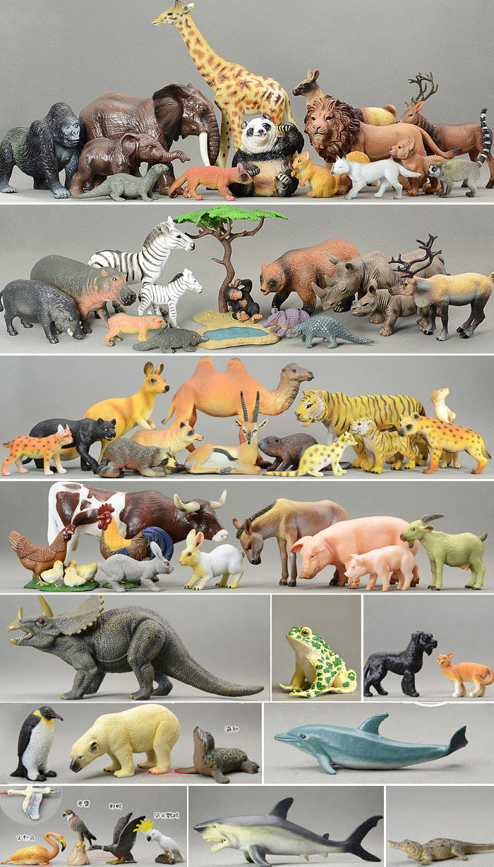 many  animals   birds  toy  model  72pcs/set  pvc  figure . 3d model relief for cnc in stl file format animals and birds 2