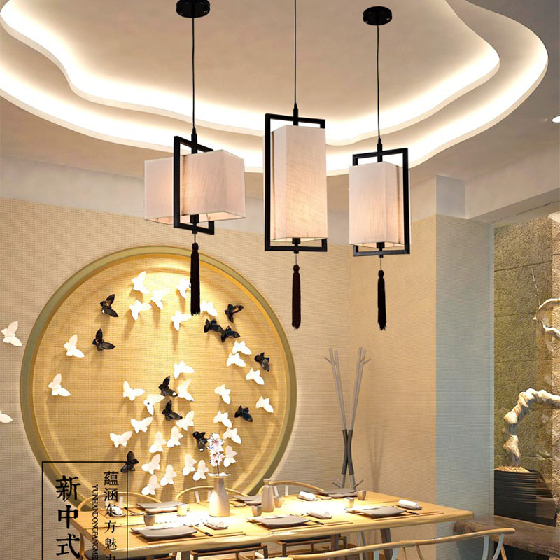 Chinese style Iron aisle stairs lamp balcony single head small chandelier hall bedroom bedside lamp lights restaurant ZS91 lo10
