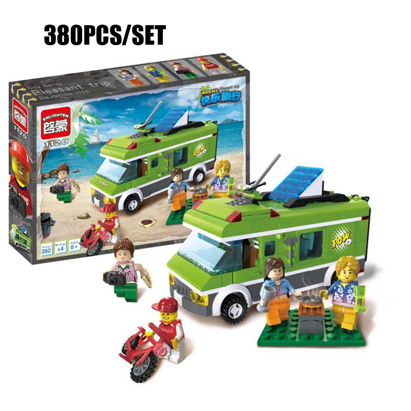 City Happy Tourist Trip Bus Model Outing Picnic Cooking Girls Friends Figure Building Block Brick Toy For Kids Xmas Gifts cooking well healthy kids easy meals for happy toddlers