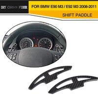 For E92 M3 DRY Replaced Steering Wheel Cover Carbon Fiber Shift Paddle for BMW 3 Series E46 E90 E92 M3 2008 2011 Sedan Coupe