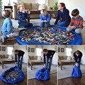 140 cm/42 cm Azul Grandes Sacos De Armazenamento Brinquedos Organizador Boxes Blanket Tapete Portátil Crianças Crianças Infantil esteira Do Jogo Do Bebê Mat para Blocos Brinquedos