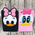 Fashion 3D Cute Cartoon Daisy Duck Soft silicone Rubber Cases Cover For Apple ipad Air 2 Ipad6 Air2 Case For Ipad 6 Coque Fundas
