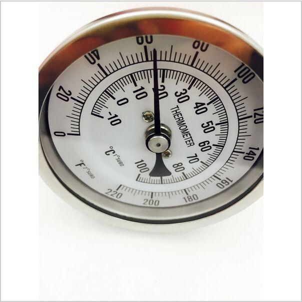 e46bb2a8b64 ᗐ304 aço Bi metal termômetro 3 Face   2 sonda