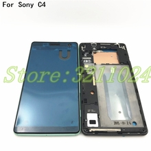 New Front Frame Bezel Housing LCD Screen Holder+Middle Plate Cover Case For Sony Xperia C4 With Camera Lens