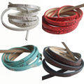 18 Style 1m Flat Leather Cord PU Bolo Braided imitate Snake Skin Surface For 5*2mm Bracelets & Bangles & pulseras Jewelry Making