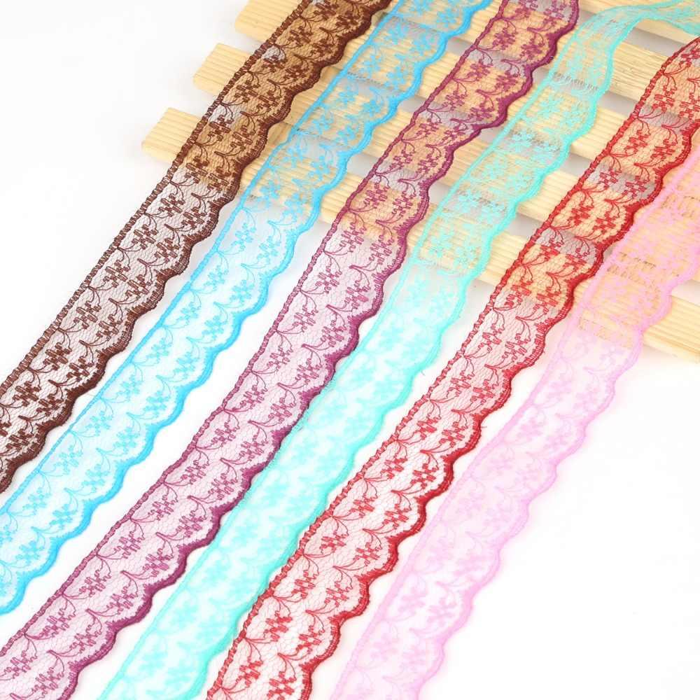 Nuovo 10 Yards Tessuto Guarnizioni Nastro di Pizzo 2 centimetri di Larghezza Ricamato Pizzo Per FAI DA TE Cucito/Abbigliamento/Decorazioni Floreali materiale