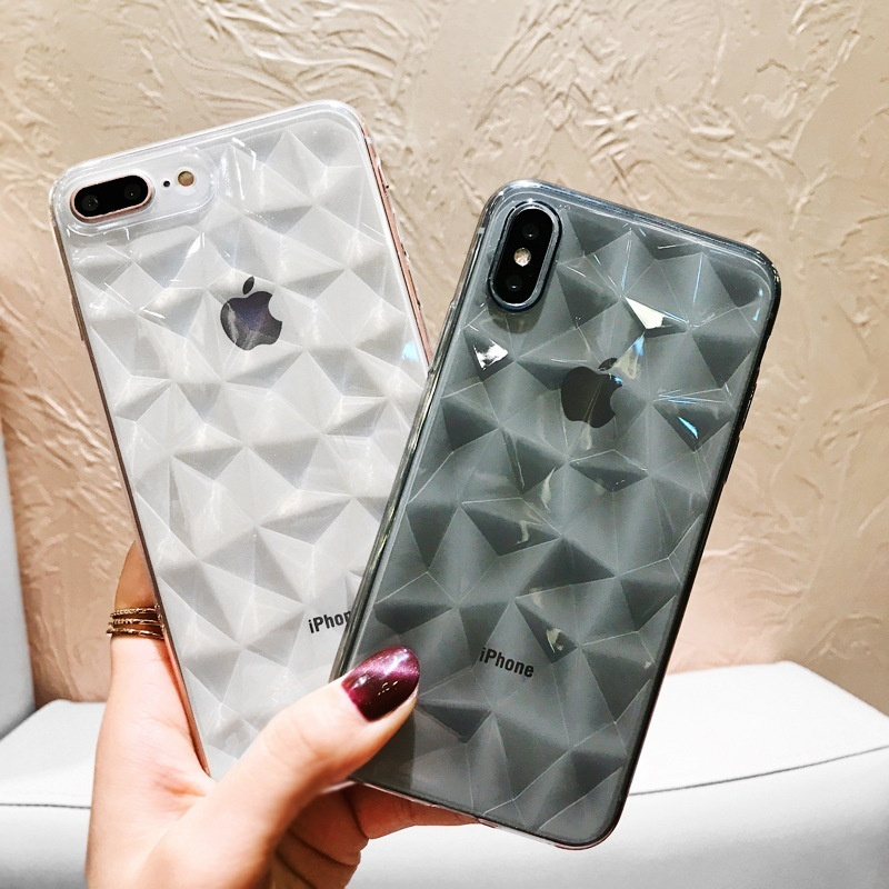 Kristall Diamant Klar Ultra <font><b>Thin</b></font> Weichen TPU Fall für <font><b>iphone</b></font> 6 6 s 7 8 Plus <font><b>X</b></font> XR <font><b>XS</b></font> <font><b>Max</b></font> transparent Telefon Fall <font><b>iphone</b></font> 7 Fall Abdeckung image