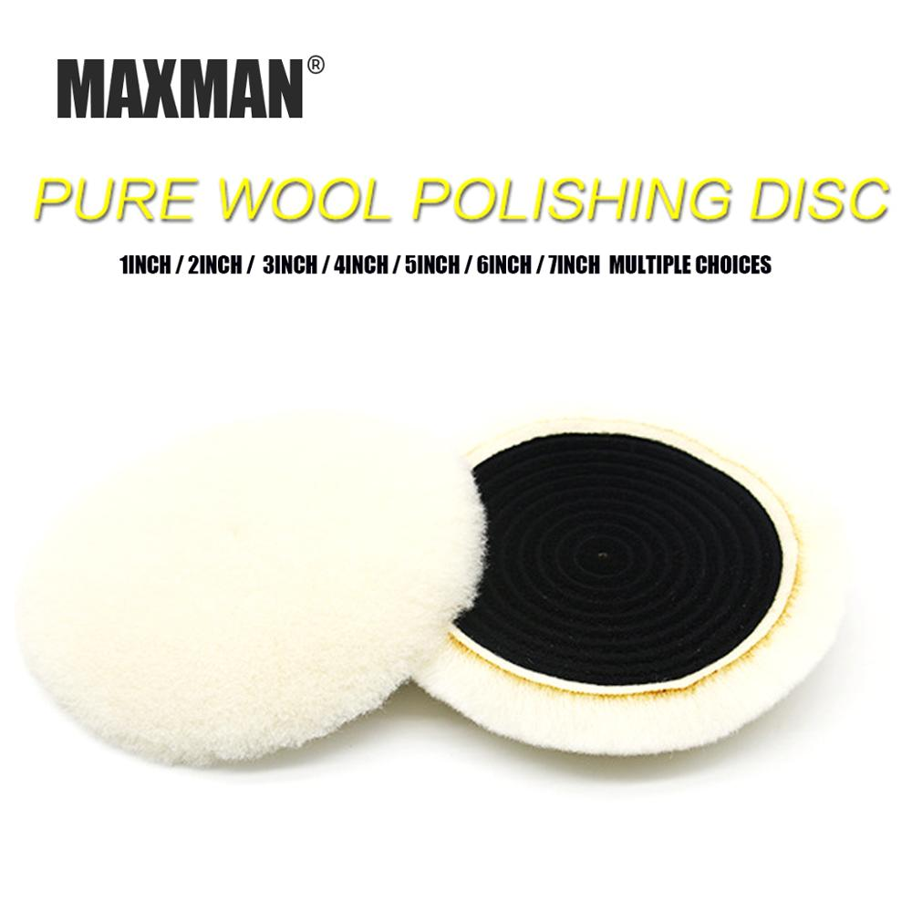 MAXMAN 1-6 INCH Wool Pads Waxing Polishing Buffing Pad Wheel Car Auto Car Paint Care Polisher Pads 3/4/5/7inch