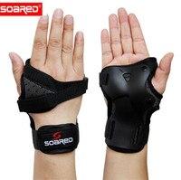 SOARED Для мужчин Для женщин наручные Защита Поддержка пальмовые подушечки протектор для катания на роликах занятий сноубордом, лыжами ролик ...