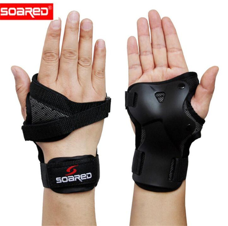 SOARED Men Women Wrist Guards Support Palm Pads Protector For Inline Skating Ski Snowboard Roller Gear Protection Hand Protecto цены онлайн