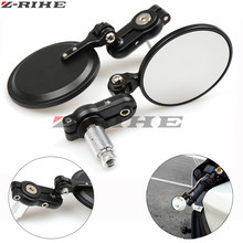 Universal 1 Pair Side View Mirrors 7/8Round Bar End Rear Mirrors Motorcycle Scooters Rearview Mirror For Handle Bar End Mirrors майка print bar summer end