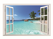 Hawaiian Style Wall Stickers PVC Decor Removable Home Art Wallpaper Room Decoration Free shipping