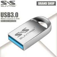 Suntrsi Pendrive 128 GB de Metal USB Flash Drive 64 GB Mini Pen Drive 16 GB USB 3,0 USB de alta velocidad flash USB a prueba de agua