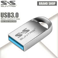 Suntrsi Pendrive 128GB unidad Flash USB de metal 64GB Mini Pen Drive 16GB USB 3,0 de alta velocidad USB Stick USB Flash
