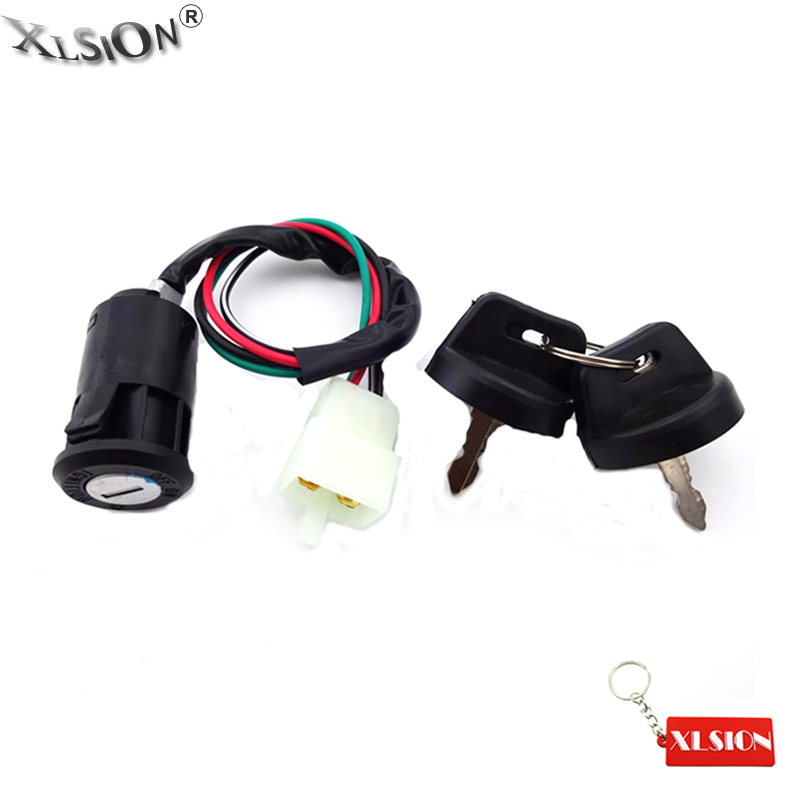 Xlsion 4 Wire Ignition Key Switch For Chinese 50cc 70cc