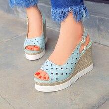 2016 new summer pumps sexy ultra high heels female sandals platform wedges platform open toe women's shoes princess shoes 34-41