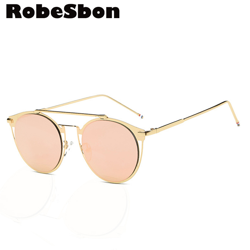 So Fashion Real Metal Cat Eye Sunglasses Women Brand Composite Round Sun Glasses Vintage Eyewear Gafas oculos de sol Newest