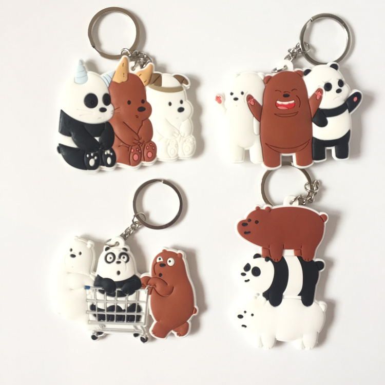 Ice Bears PVC Parts & Accessories Cute Penda Pendant Anime Decoration Unisex Bag Chain Pendants Key Chain Key Chainsgift