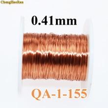 ChengHaoRan 0.41 ملليمتر 1 متر QA 1 155 2UEW QZ 2 130 جديد البولي يوريثين بالمينا الأسلاك النحاسية جولة 1 متر