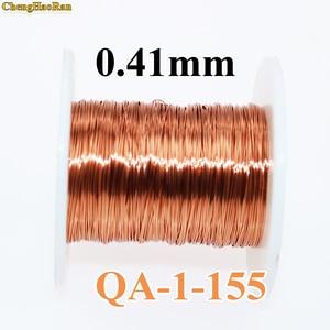 Image 1 - ChengHaoRan 0,41mm 1 m QA 1 155 2UEW QZ 2 130 nuevo poliuretano esmaltado redondo alambre de cobre 1 metro