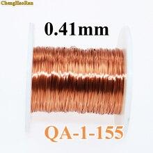 Chenghaoran 0.41mm 1 m QA 1 155 2uew QZ 2 130 새로운 폴리 우레탄 에나멜 처리 된 구리 와이어 1 미터