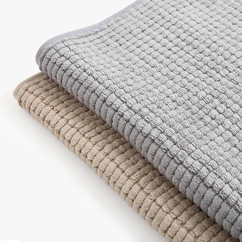 Rfwcak nova casa moderna forma shenil tapete absorvente tapete antiderrapante banheiro quarto sala de estar cozinha corredor tapete porta