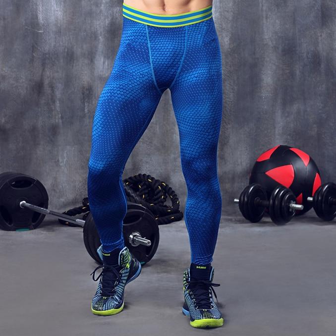 Hombres pantalones capa base medias de compresión correr correr ejercicio fútbol