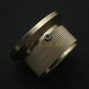 Image 4 - 1 PC 44*25mm złoty anodowane CNC obrabiane stałe aluminiowe pokrętło potencjometru dla DAC CDPlayer wzmacniacz głośnik objętość
