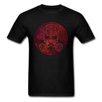2018 Serin T Shirt Tribal Desen Yıldız Kırmızı Maske Geometrik Görüntü Baskılı erkek Moda T-Shirt Punk Şekillendirici Tops Tees