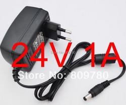 1 pièces haute qualité 24V1A AC 100 V-240 V convertisseur adaptateur DC 24 V 1A 1000mA alimentation EU prise 5.5mm x 2.1-2.5mm