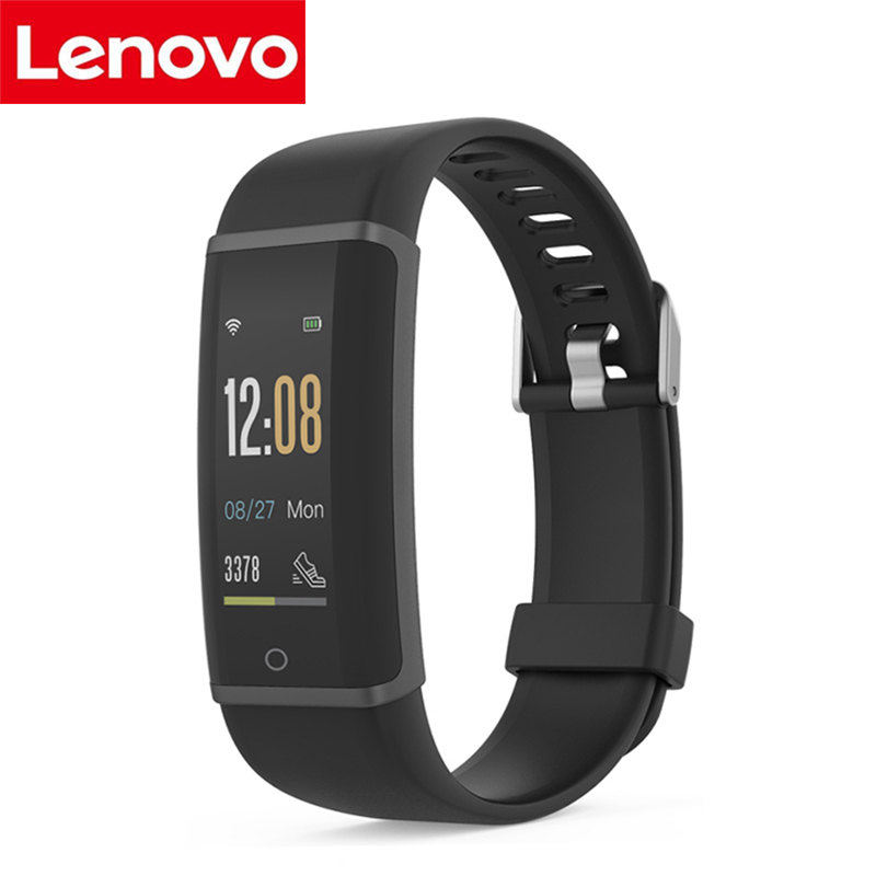 Lenovo HX03F Smart Wristband IP68 Waterproof Fitness Tracker Smart Bracelet Bluetooth Heart Rate Monitor Band For IOS Android купить в Москве 2019