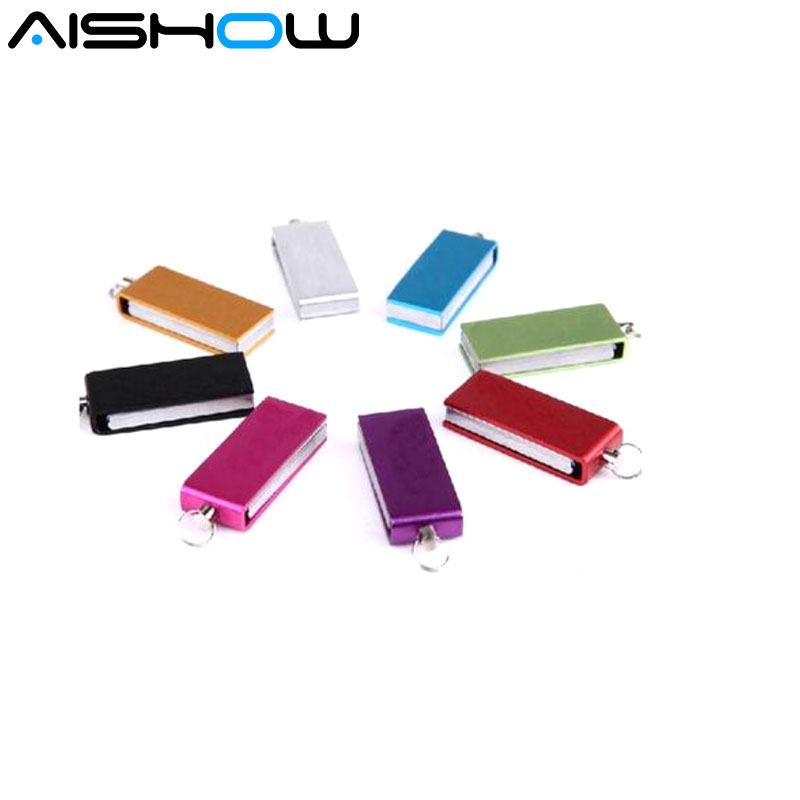 Free Shipping Rotating Waterproof USB Flash Drive 1GB 2GB 4GB 8GB 16GB 32GB 64GB Pen Drive Swivel USB Stick Disk Gift