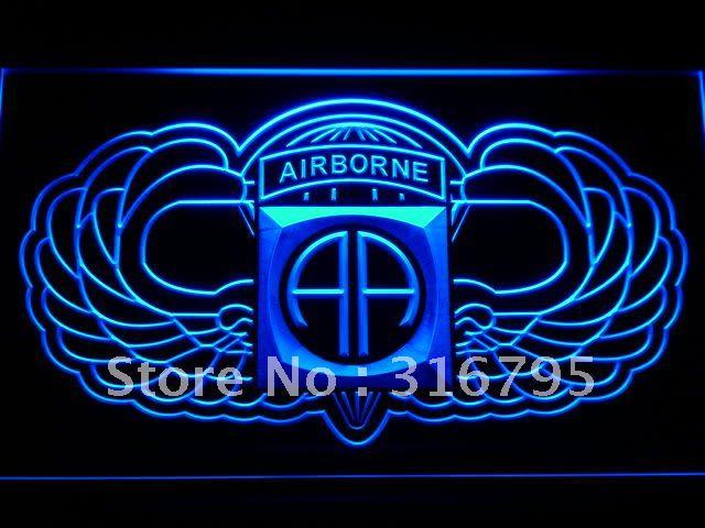 F184 82nd Airborne крылья армия неоновый с включения/выключения 20 + цвета 5 размеров на выбор