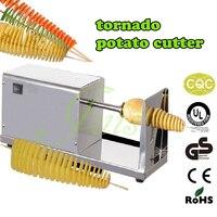 Картофель спираль картофеля резки + жульеном Спираль Тесак + 500 шт. бамбуковые палочки Электрический tornado Картофеля Резак twister