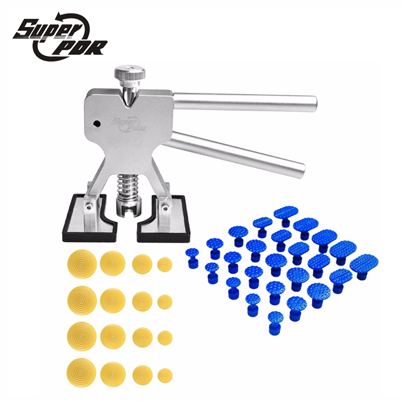 Super PDR Dent Puller Paintless Dent Removal Tools PDR Kit Silver Glue Puller Tabs Car Dent Repair Tool Set super pdr tools dent removal pdr tool kit dent puller tabs hand tool set paintless dent repair tools